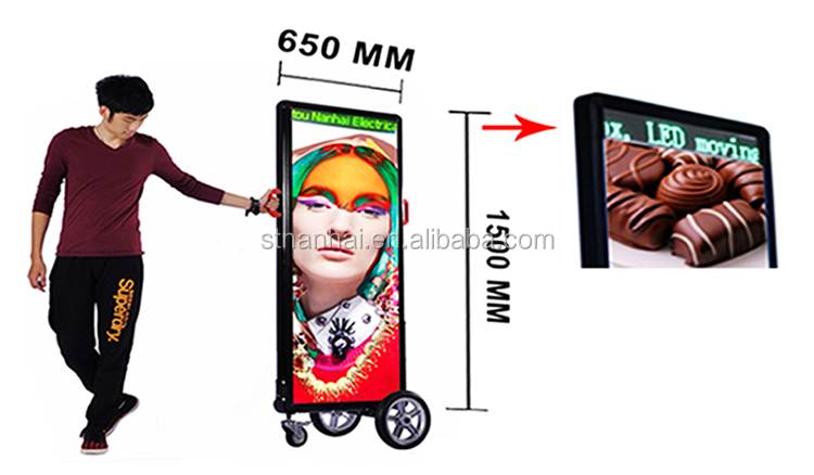 J2B-190 Outdoor led banner stand sign display apply to trolley