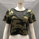 Sexy Camouflage and Net Woman Blouse