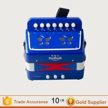 New design blue accordion/ high quality toy accordion