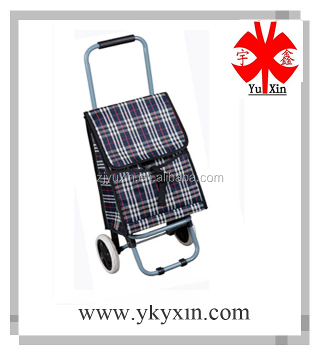 Vegetable shopping trolley bag with small wheels / Folding shopping trolley bag