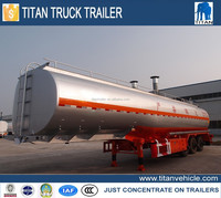 Titan semi truck fuel tank, 40000L truck tank trailer, Portable Fuel Tanks