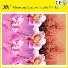 Dubai market TC printed Polyester woven pongee fabric from changxing factory