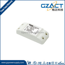 ip20 plastic case 10w 12w constant current 350mA 500mA 700mA GZACT led driver for downlight with TUV