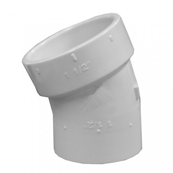 22.5 Street Elbow Type 1.5 Inch Dia PVC DWV Fittings Related To PVC Pipe