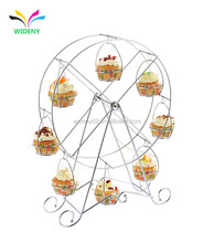China Factory Supply Metal Wire Fancy Rotating Wedding Ferris Wheel Cupcake Stand