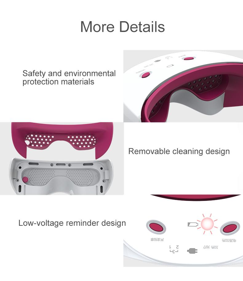 Masseur oculaire avec micro chargeur usb, USB masseur des yeux
