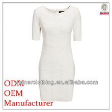 Simple Korean style fashion ladies' neck design smart elegant dress