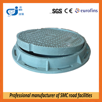 Double layer manhole cover without locking