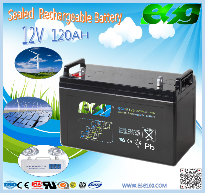 12V Nominal Voltage Battery High Quality 12V 120Ah ups Battery