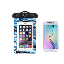 Newest Style Camouflage Waterproof Phone Case for 4.5-6 inch Mobile Phones Water Proof Phone Case bag with Compass & Armband
