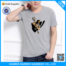 Custom Printing Bulk Mens Tee Shirt Cotton Loose Sport Clothing Fast Delivery