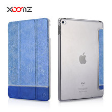 XOOMZ New Design Fabric and PU Splicing Shining Folio Case for iPad Mini 4
