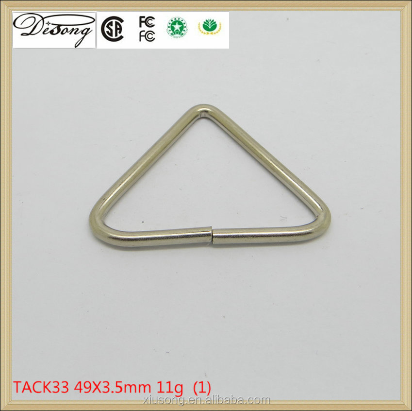 Bag Parts & Accessories Metal Triangle Ring,Iron Triangle Shape Ring