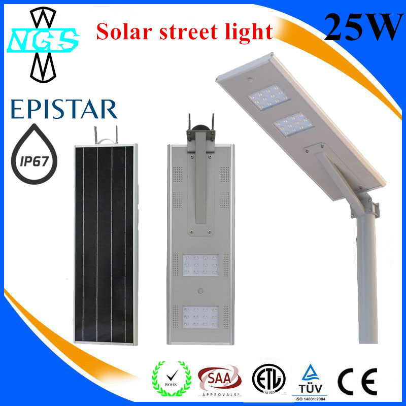 Hot promotional for christmas all in one solar street light project