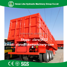 China Manufacturer Factory Quality 3 Axles Dump Truck Trailers And Low Bed Trailer 100 Ton