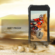 patent design case for iPhone6 rubber+metal shock proof phone case