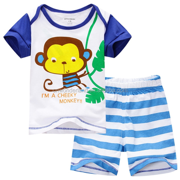 baby boys summer stripe short sets cartoon Infants & Toddlers Age Group Baby Clothing