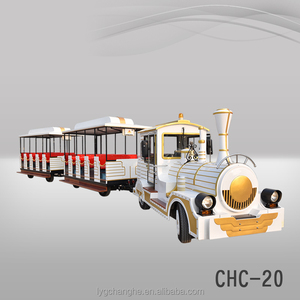 Diesel Electric amusement sightseeing park rides trackless road trains for sale