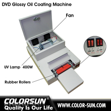 Automatic desktop cd dvd uv coating machine for hot sales
