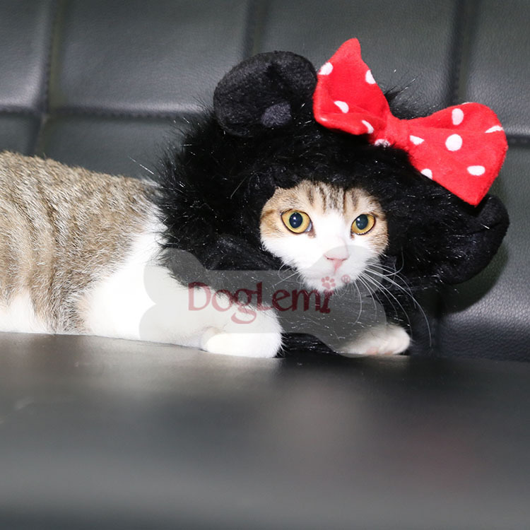 Halloween Cat Costume Wig Panda Mickey Cat Lion Mane Wig Cat Costume Hat for Cat Halloween : halloween cats costumes  - Germanpascual.Com