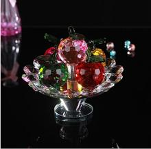 YX297 Hot Selling colorful fruit platter crystal ornaments fashion crafts for wedding souvenirs&decoration