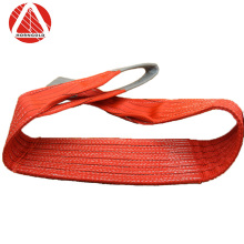 Foshan factory made good price 5 ton 125mm eye-eye polyester flat woven duplex industrial lifting webbing sling belt