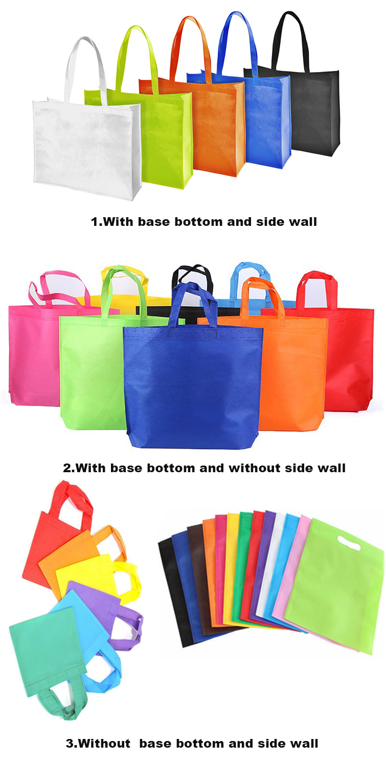 Promotional custom non woven bag with logo printing