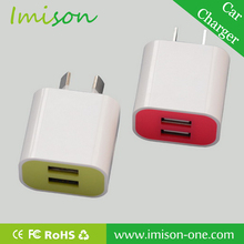 Double USB Ports USA Style Power Charger