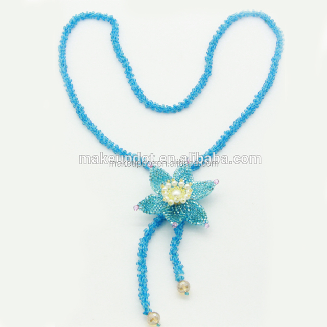 2017 New Handmade Bohemian Flower Necklace Japanese Beads Necklace For Lady