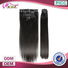 XBL Virgin Human Hair Clips In 6A Soft And Smooth Wholesale Virgin Brazilian Human Hair Extensions