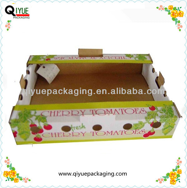vegetable fruit tomato packing boxes,corrugated carton box for vegetable