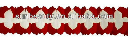 2014 New Design 12 Red Cross Garland Decoration