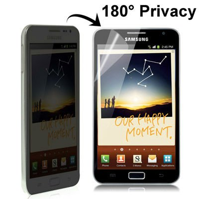 180 Degree Privacy Anti Glare, Anti-ultraviolet LCD Screen Protector for Samsung Galaxy Note / i9220 / N7000