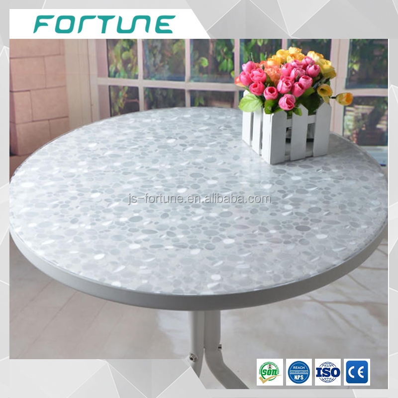 round design table protective film transparent film with patern embossed