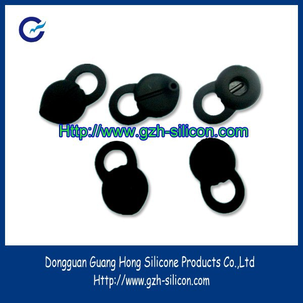 Customized silicone gel rubber bluetooth earphone ear bud hooks made in Guangdong