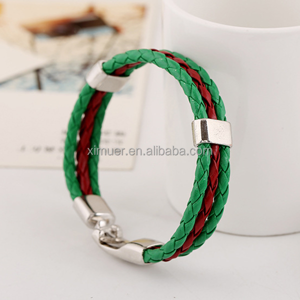 Handmade design fashion bracelet, Factory custom leather bracelet