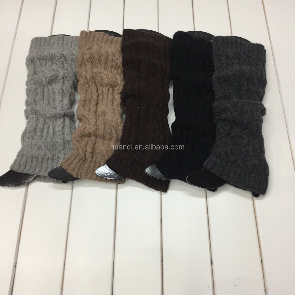 High quality stocking khaki boot socks for women long cuff winter leg warmers knee high women boot cuffs