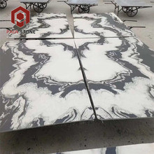 natural Panda White marble stone with black veins wall tiles
