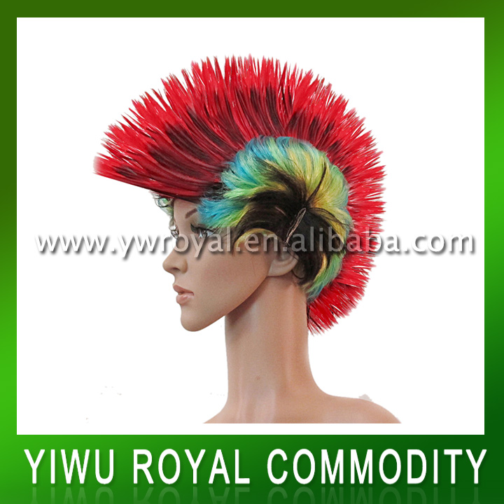 Muti-color Punk Style Synthetic Cockscomb Hair Wig