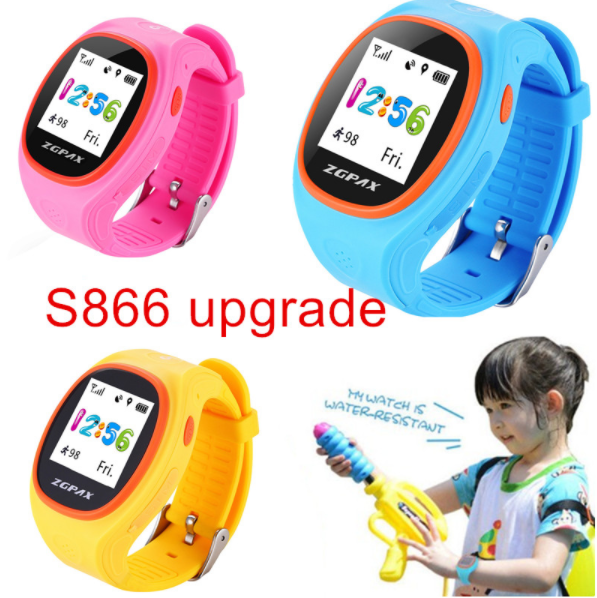 S866A Children GPS Tracking Smart Watch Phone Tracking GPS WiFi Anti-falling Alarm GSM CPU MTK2503 for iOS & Android Phone
