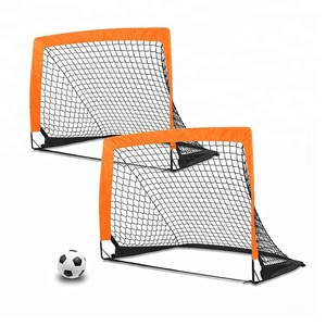 Mini pop up folding portable football soccer goals