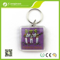 promotion Different shapes of photo keychain in china