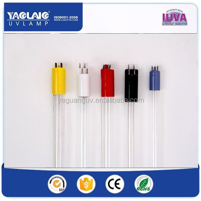 13000h quartz,single ended 4pins 185nm 254nm uv germicidal lamps, uv lights and quartz tubes for uv lights for water treatment