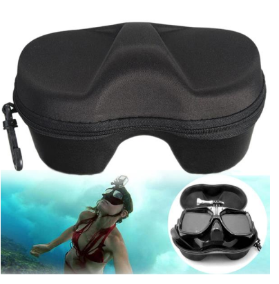 Diving Mask Scuba Glasses Case Pouch Storage Bag Protector Container for Gopro