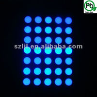 Factory price 35 Dots bule 3mm custom LED 5*7 Dot Matrix Display
