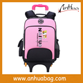 Cute Detachable Girl Boy Kids Trolley School Bag