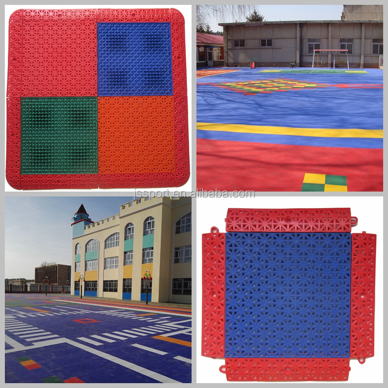 TKL250-13 2016 hot sale better than rubber EPDM PVC PU outdoor interlocking flooring made in China