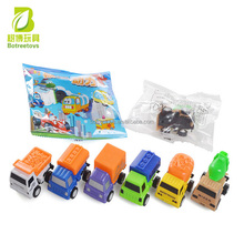 Wholesale kids toys 6 models pull back engineering transport vehicle cars