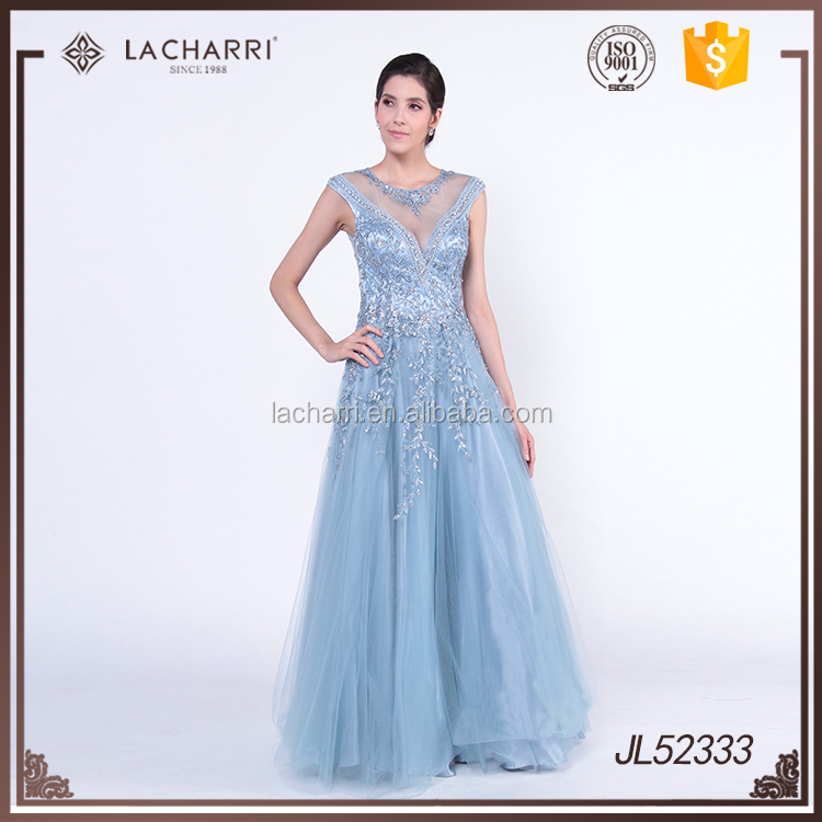 100% Hand Embroidery Designs Evening Dress Ladies Gown