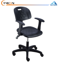 Adjustable stainless steel & pu lab chair stool with backs / wheels / arms